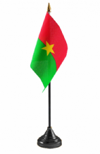 BURKINA FASO - Table Flag